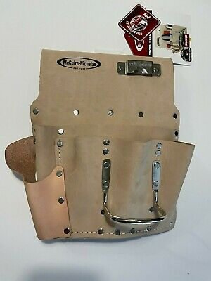 Electrician Tool Bag 12 pockets SADDLE LEATHER Waist Pouch belt