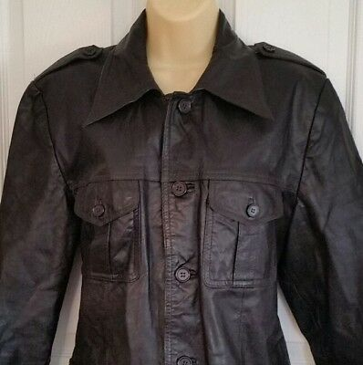 Womens Early 1970s AMF Authentic Vtg Harley Davidson leather Motorcycle Jacket M