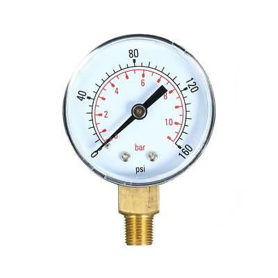 0~160psi 0~11bar Dual Scale Mechanical Water Air Gas Pressure Gauge Meter V4Y8