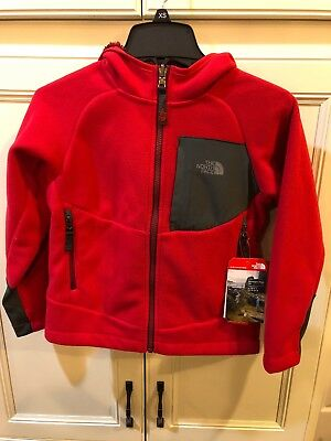 New The North Face Boys' Chimborazo Fleece Hoodie Jacket Size XS(6) NF00A7AS6