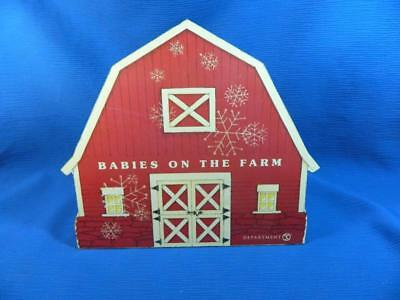 Dept 56 Snowbabies Babies On The Farm Barn Backdrop Diorama MISSING WEATHERVANE