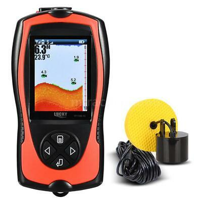 NEW 100M Portable Fish Finder Wired Sonar Sensor Transducer & LCD Display K7T7