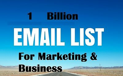 1000 Million Email List for Marketing and Business - Download Instant Delivery