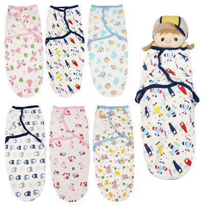 Baby Swaddle Wrap Newborn Infant Bedding Blanket Cotton Sleeping Bag Floral Soft