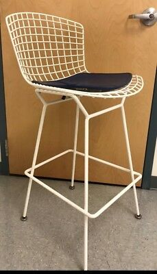 5 Authentic Knoll Bertoia Bar Stools with Cushions MCM Barstools Original