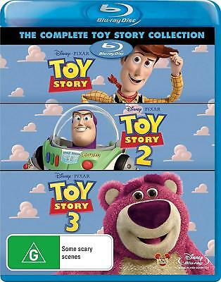 TOY STORY Trilogy 1 2 3 (Region Free) [Blu-ray] Disney Collection