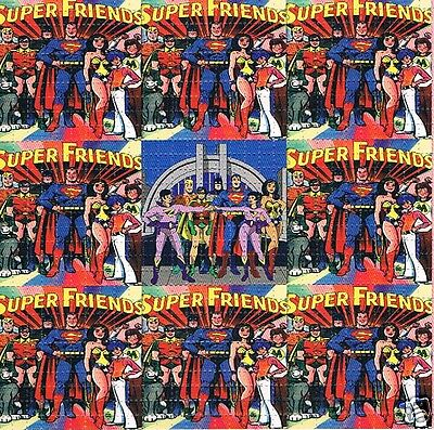 SUPER FRIENDS Perforated Blotter Art 30 x 30 = 900 hits LSD Acid New/Mint