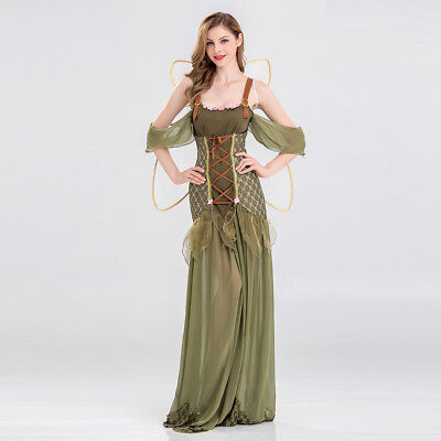Women's Elf Fairy Dress Up Costume Cosplay Halloween Party Outfit