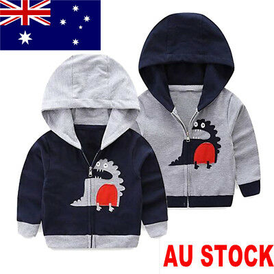 Kids Baby Boy Autumn Spring Trench Coat Hoodies Outerwear Jacket Clothes Outfit
