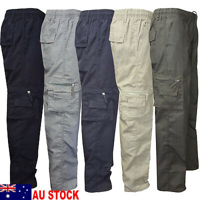 AU Camping Hiking Army Cargo Combat Military Mens Straight Trousers Pants Casual