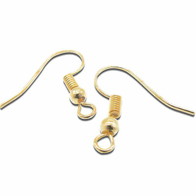 50 Pairs Earring Hooks Earwires Surgical Steel Coil Earrings Hooks Gold/Silver