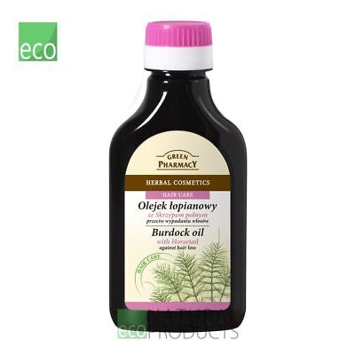 Green Pharmacy Burdock Oil with Horsetail 100ml Against Hair Loss