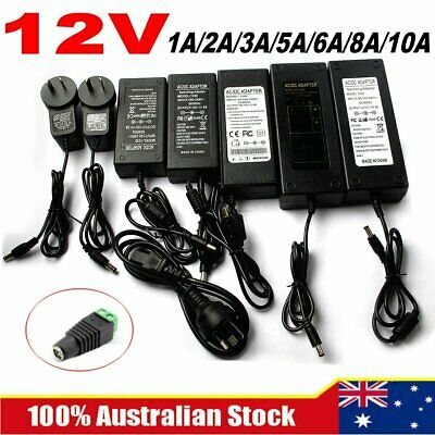 DC 12V 1/2/5/6/8/10A AU POWER SUPPLY AU Adapter Charger Converter for LED Strip