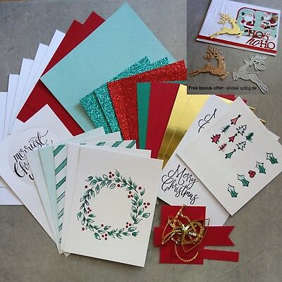 "Free Die: Stampin' Up! ""watercolour Christmas"" Designer Paper Card Pack 31 Pcs"