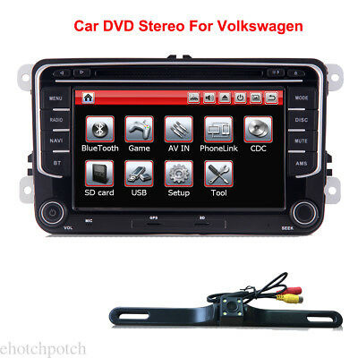 """7"""" In dash Car Radio DVD CD Player GPS Bluetooth for Volkswagen +Back up Camera"""