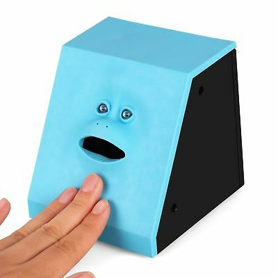 Innovative Face Bank Saving Sensor Coin Money Eating Box Kids Child Gifts