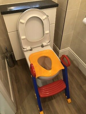 TODDLER POTTY TOILET Trainer Safety Seat Chair Step with Adjustable ...