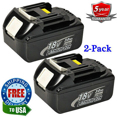 2PACK 18V 3.0Ah LITHIUM ION LXT BATTERY FOR MAKITA BL1830 BL1850 US LATEST PACKS