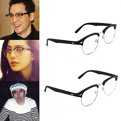 New Unisex Clubmaster Clear Vintage Glasses Novelty Mens Ladies Party Fashion UK
