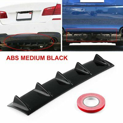 Shark Fin 5 Wing Lip Diffuser Rear Bumper Chassis Black ABS  Universal