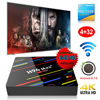 2019 4+32GB Android 8.1.0 Oreo Quad core TV BOX H96MAX+ 4K Media Player HDR DHL