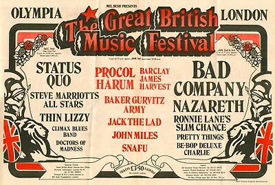 0651 Vintage Music Poster Art - The Great British Music Festival