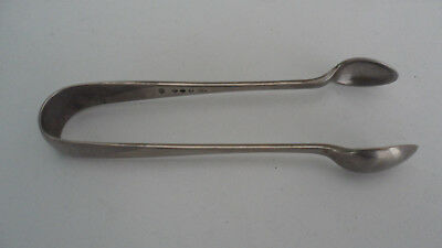 "Vintage Silver Plated Plate Sugar Cube Tongs 4.5"" Inches Hall Marked"