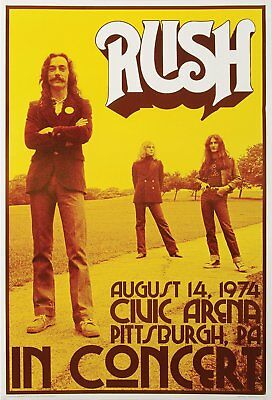 0660 Vintage Music Poster Art - Rush In Concert Pittsburgh