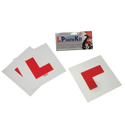 Oxford Motorcycle Bike Scooter Learner Essential 3 Piece L-Plate Kit OX170