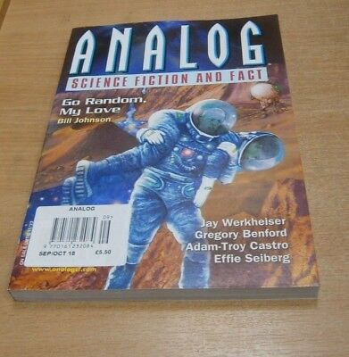Analog magazine SEP/OCT 2018 Bill Johnson, Jay Werkheiser, Gregory Benford et al