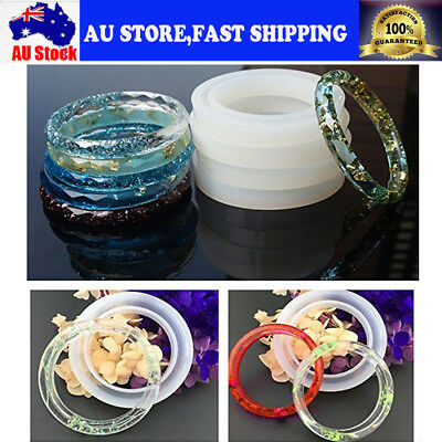 Clear Silicone Mold Making Jewelry Pendant Resin Casting Mould Craft DIY Tool AU