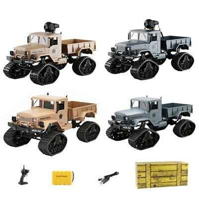 RC Military Truck Army 1:16 4WD Tracked Wheel 2.4G Crawler Off-Road Car RTR Toys