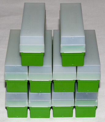 10 Fuji 35mm Slide Storage Boxes with Lids