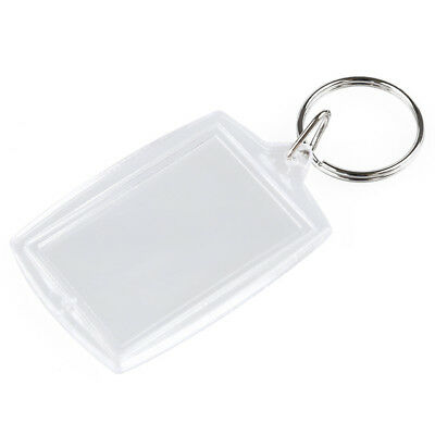 NEW Clear Photo Frame Pendant Key Ring Key Chain Keyring Car Keychain Metal Gift