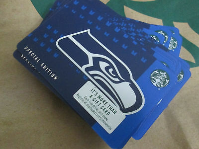 LOT OF 25 NEW  2018 Starbucks SEATTLE SEAHAWKS Gift Card Limited Edition