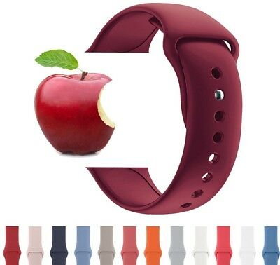 Apple Watch Band Sport Silicone Strap 42mm 38mm Bracelet Series 4-1  Wrist Belt