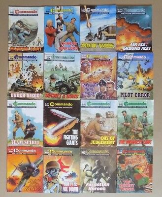 Job Lot of 16 Commando War Comics