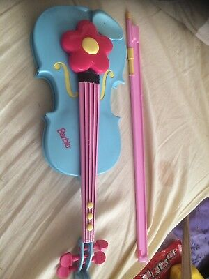 Xmas Gift Barbie pink musical violin & Bow A/F