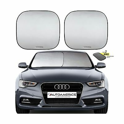 Autoamerics Windshield Sun Shade - 2 Pieces of Foldable 28'x32' Car Front Win...