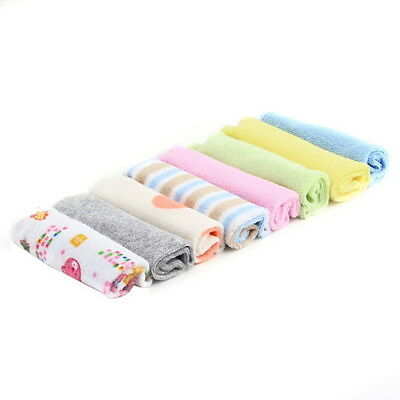8Pcs Baby Infant Newborn Bath Towel Washcloth Bathing Feeding Wipe Cloth Soft HN