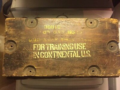 WWlI US Army Military 50 CAL Ammo Wooden Crate From Fort Sam Houston