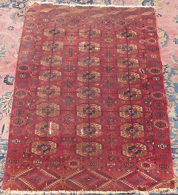 Antique Country House Shabby Chic Tekke Turkoman Turkmen Rug