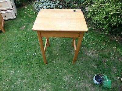 Vintage Beech School Desk