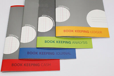 SILVINE A4 ACCOUNTS BOOK KEEPING : Cash/Journal/Ledger/Analysis Accounting Book