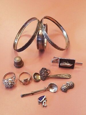 Sterling Silver Jewelry, Mixed Items, Scrap , 72 Grams