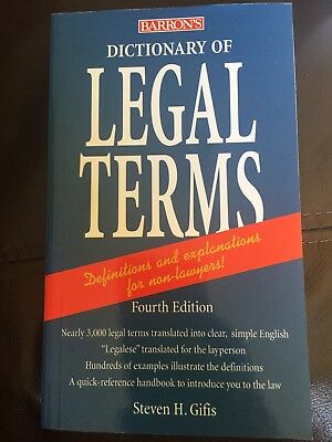 Dictionary of Legal Terms by Steven H. Gifis (Paperback, 2008)