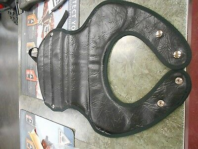 NOS Vintage Black Motorcross Chest Protector Motorcycle MX AHRMA CR ELSINO