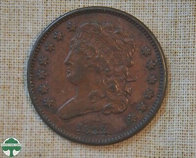 1832 Classic Head Half Cent - Extra Fine Details- Scratched