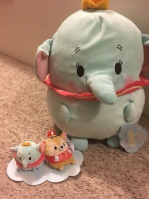 Disney Dumbo Large Ufufy And Small Mouse And Dumbo Disney Store
