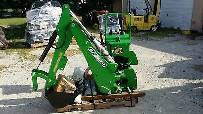 3 point Backhoe 7600, GREEN 8-foot excavator with free PTO PUMP & shipping